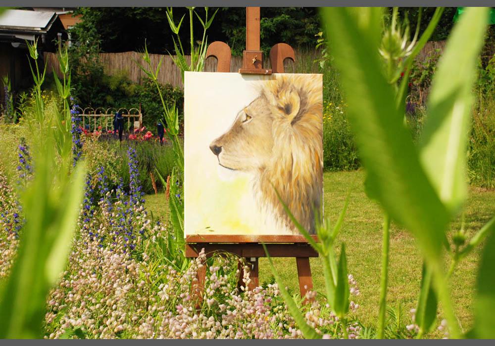 Löwe-im-Garten